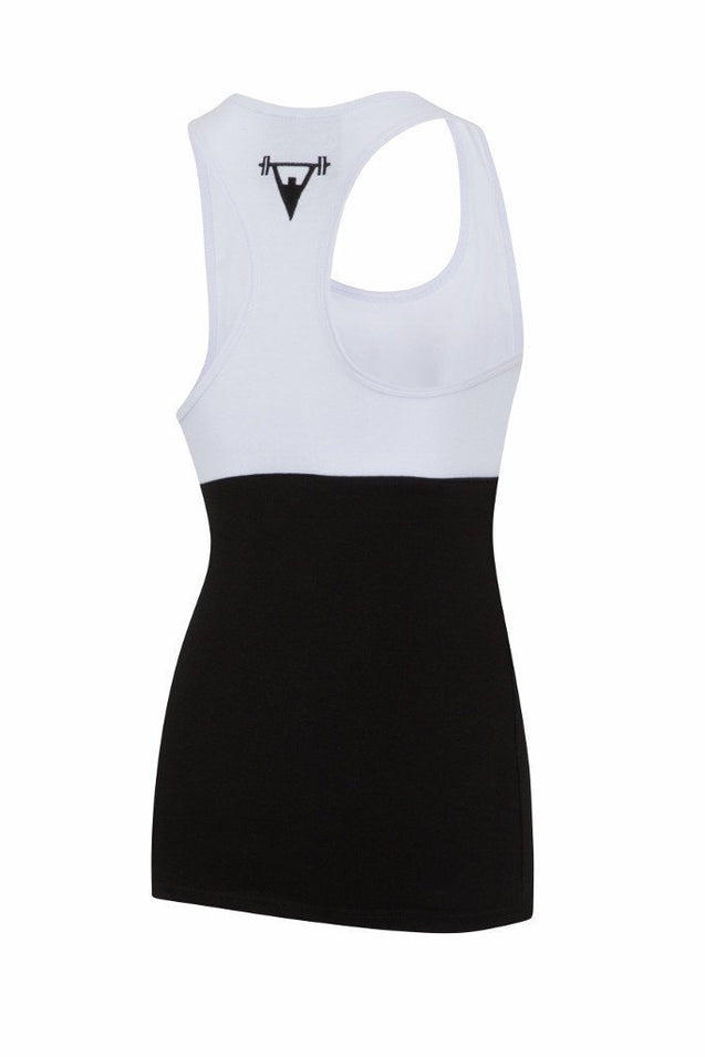 Cut Above Cut Above 'Kontrast' Womens Vest in Black/White