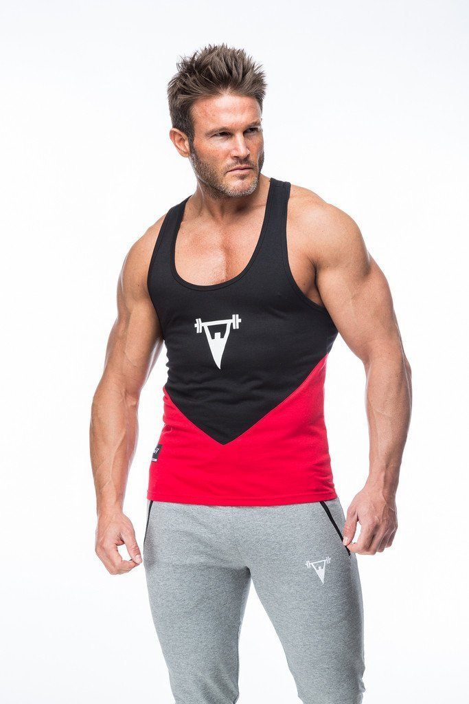 Cut Above 'Kontrast' Vest in Black/Red