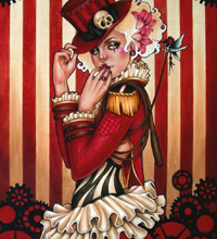 The Ringmistress - 18x24 Acrylic on wood.