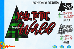 Joy Plaid Tree