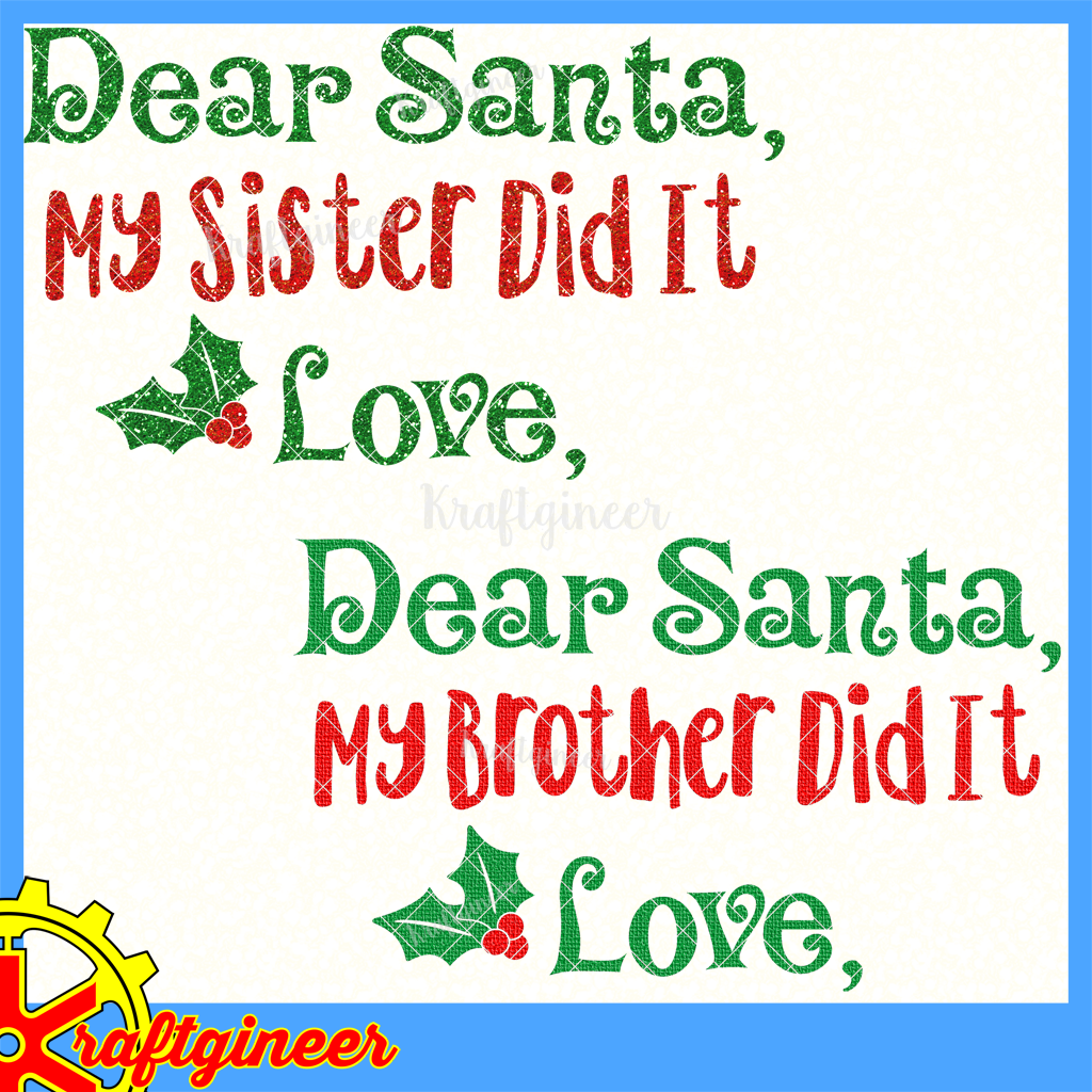 Dear Santa Siblings