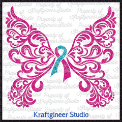 Filigree Awareness Butterfly