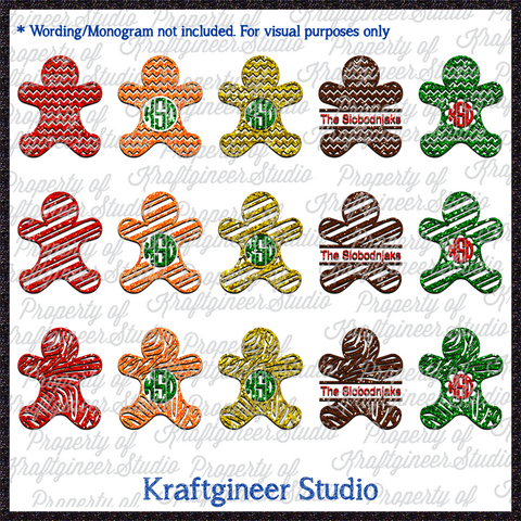 Gingerbread Wild Stripe Set