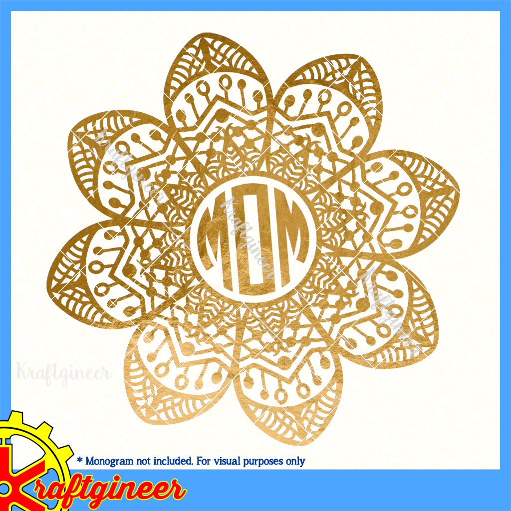 Mother S Day Svg Intricate Flowers Svg Dxf Eps Cut
