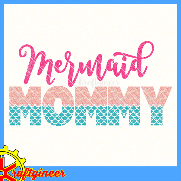 Mother S Day Svg Mermaid Mom Svg Dxf Eps Cut File