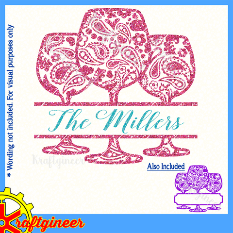 Paisley Wine Glasses