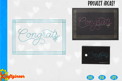Single Line Congrats Card