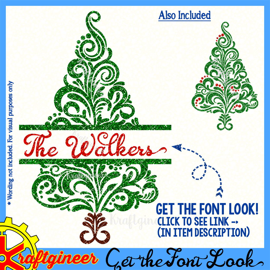 Christmas Svg Swirl Xmas Tree Svg Dxf Eps Cut File Kraftgineer Studio