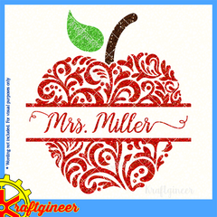 Education Svg Swirly Apples Svg Dxf Eps Cut File