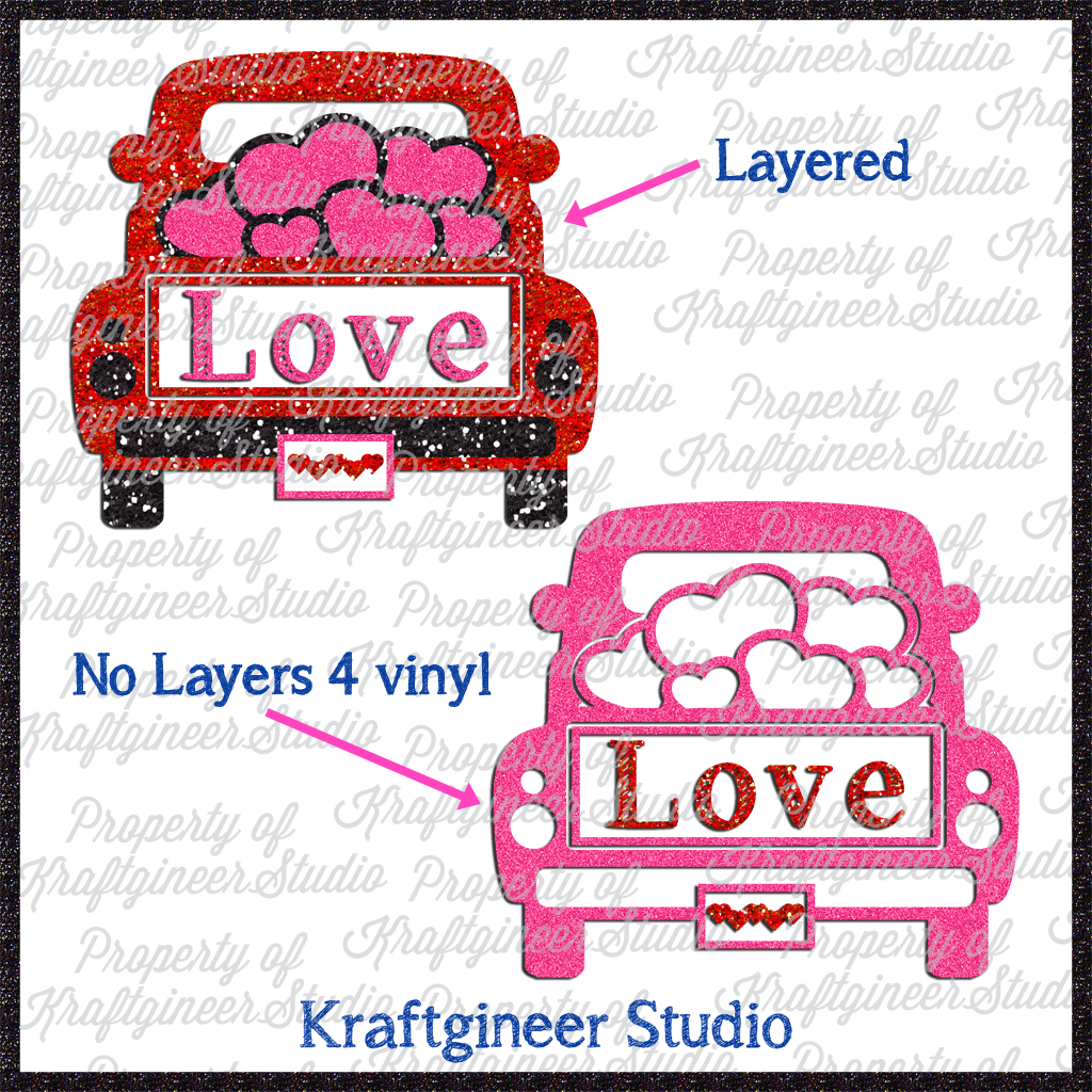 Valentine S Day Svg Vday Truck Svg Dxf Eps Cut File