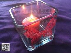 Paisley Awareness Butterfly Candle