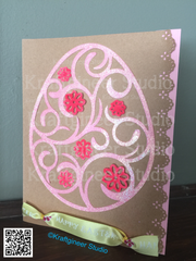 Swirly Egg Card