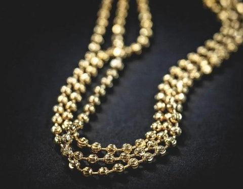 14k Solid Gold Ball Chain