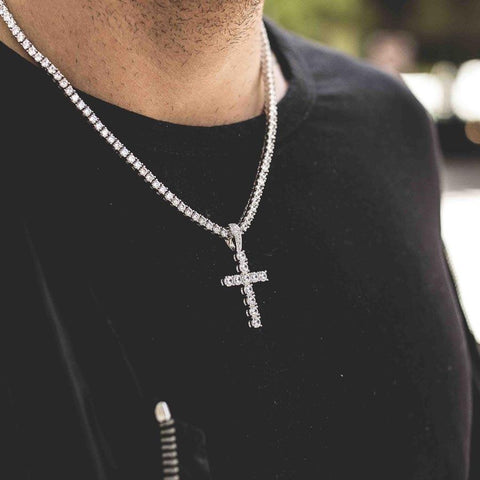 Cuban Link Chain Ankh Gold Chains For Men Plug Pendant Angel Pendant Franco Chain