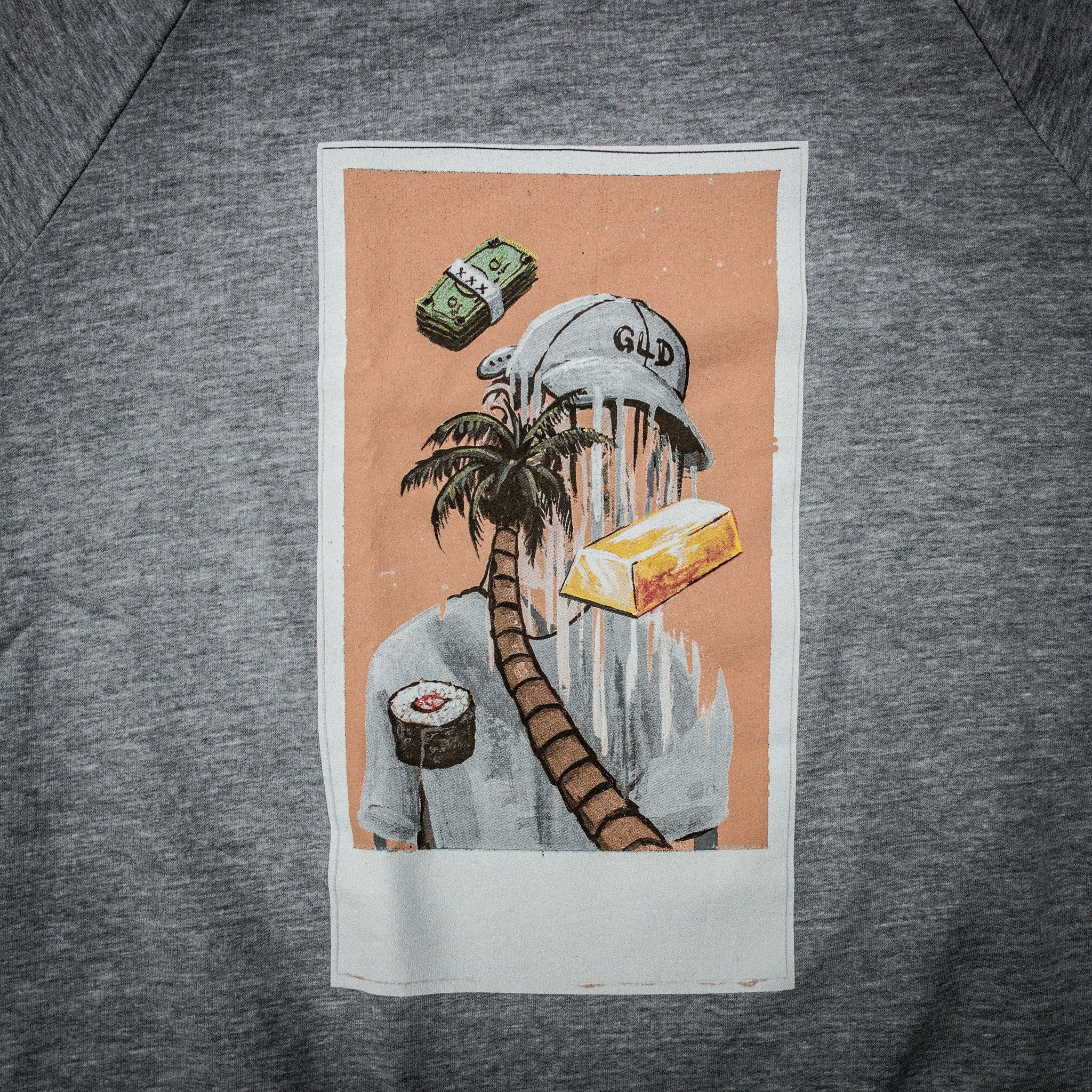 Polaroid Crewneck in Grey - The GLD Shop