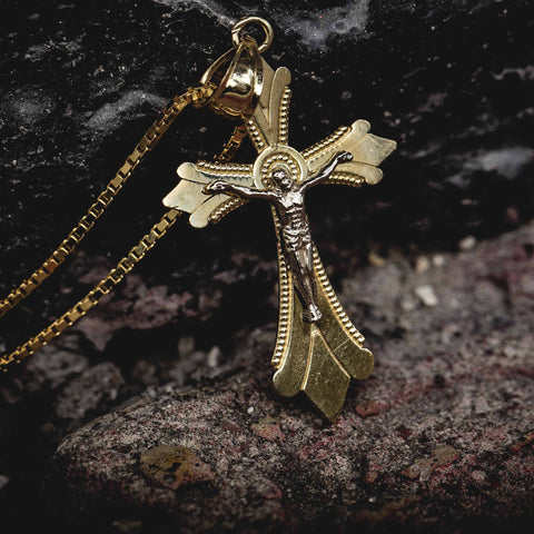 Solid Gold Crucifix Pendant