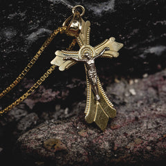 Solid Gold Crucifix Pendant - The GLD Shop