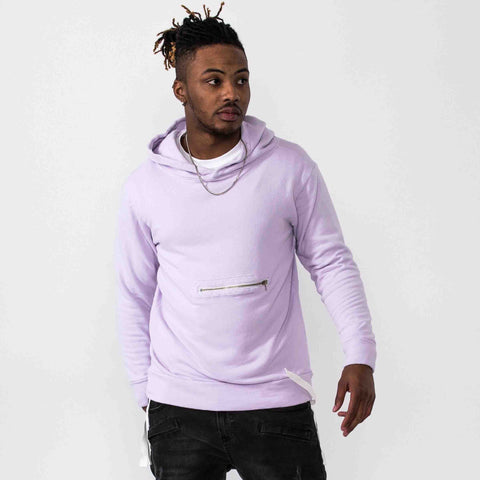 Terry Pullover Hoodie- Pink