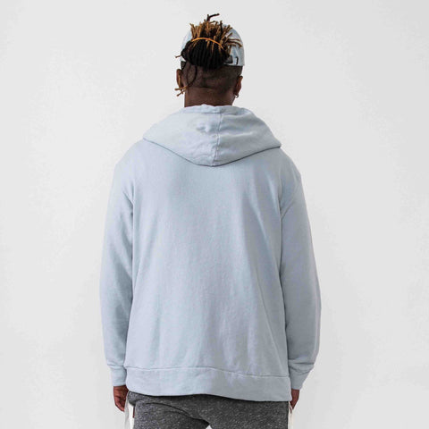 Terry Pullover Hoodie- Blue