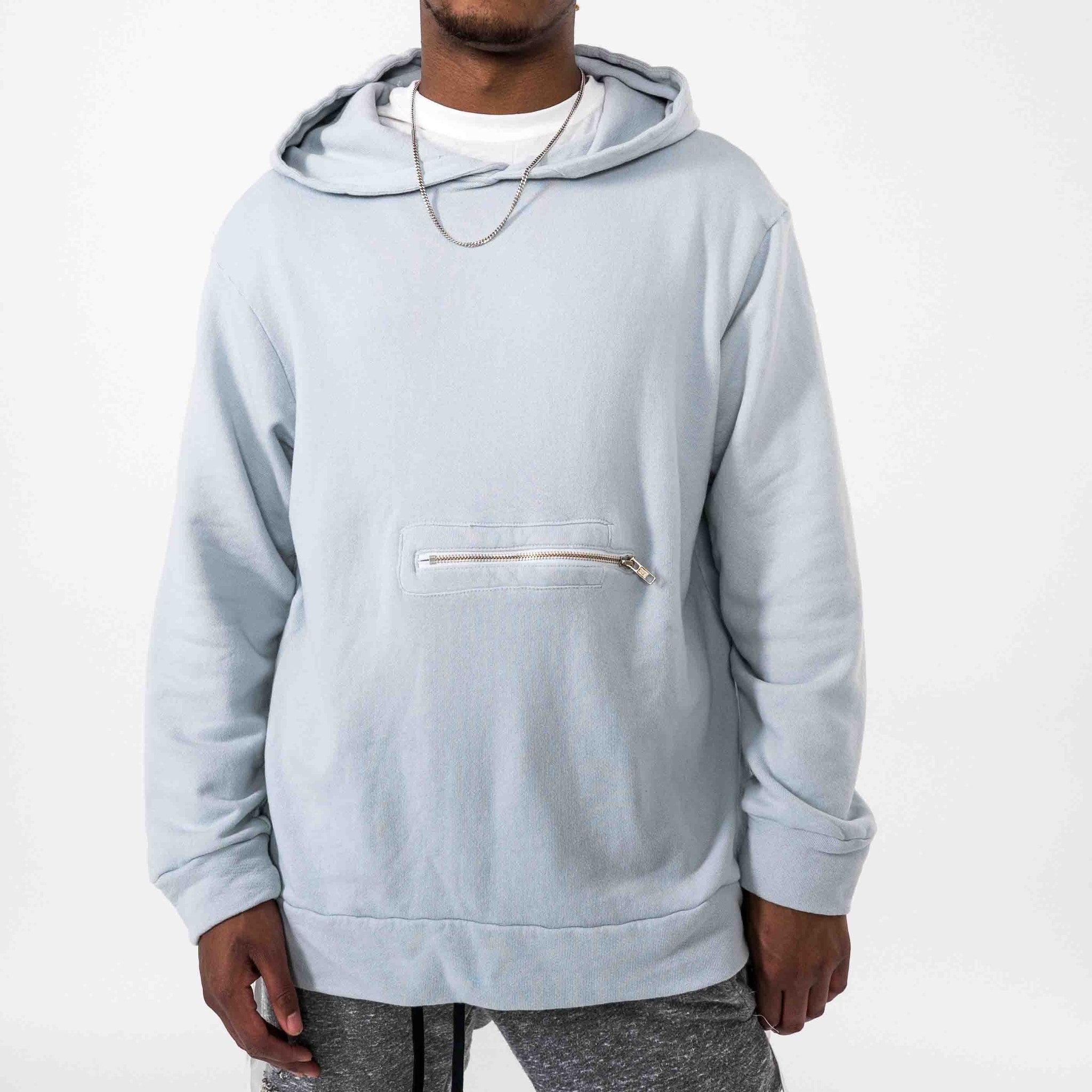 Terry Pullover Hoodie- Blue - The GLD Shop