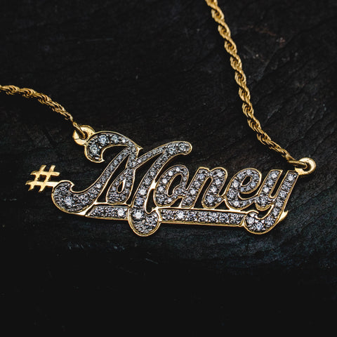 Custom Script Necklace