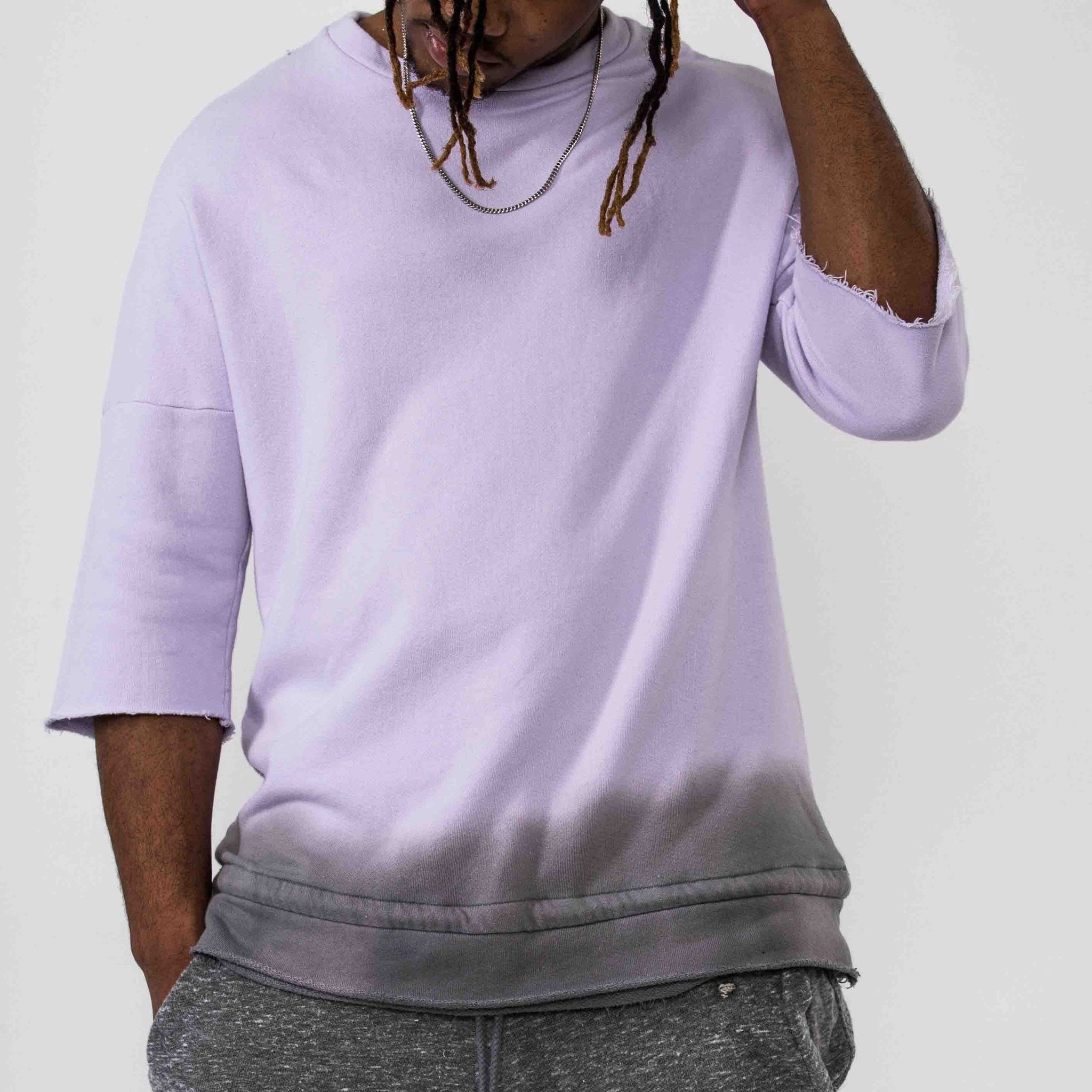 Dip Dyed Crewneck - Pink/Grey