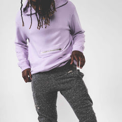 Terry Pullover Hoodie- Pink - The GLD Shop