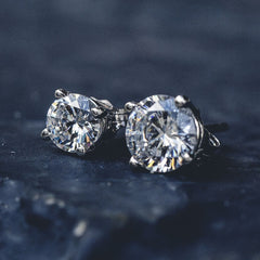 Round Cut Diamond Earrings - Pair - The GLD Shop
