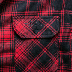 Long Sleeve Fashion Flannel (Black/Red) - The GLD Shop