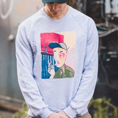 Picasso Crewneck in Grey - The GLD Shop