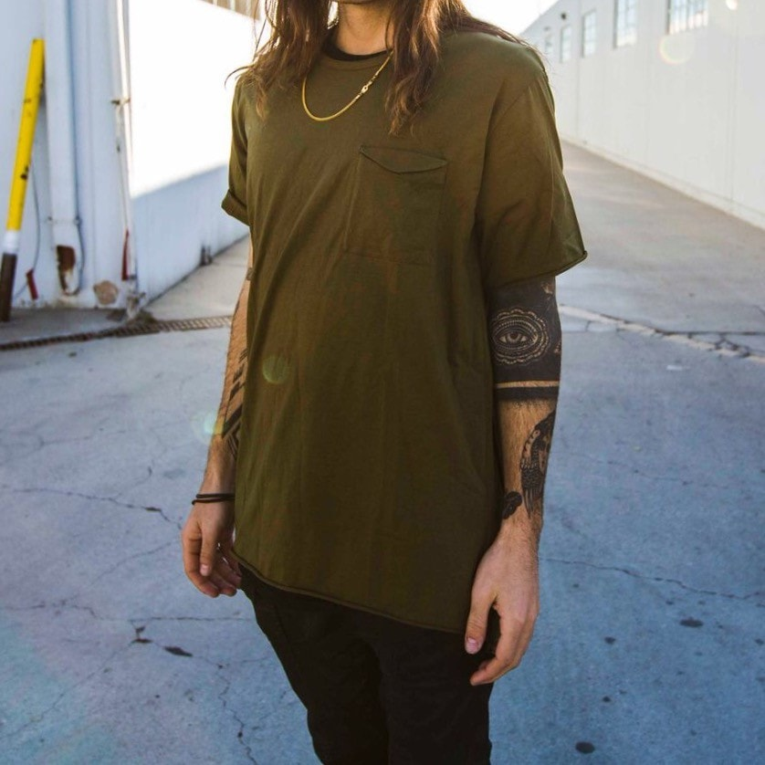 Fashion Tee in Green - The GLD Shop