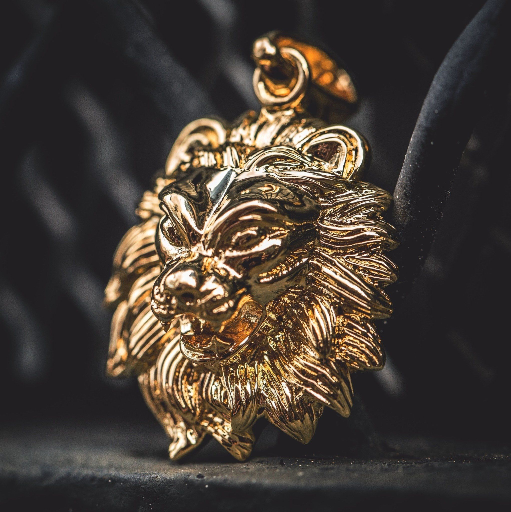 apparel lion pendant products gold head trap necklace conscious
