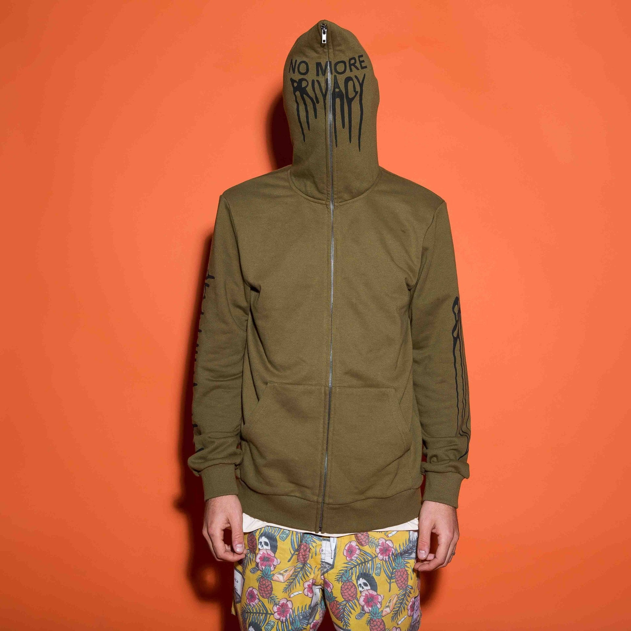 No Privacy Hoodie - Green - The GLD Shop