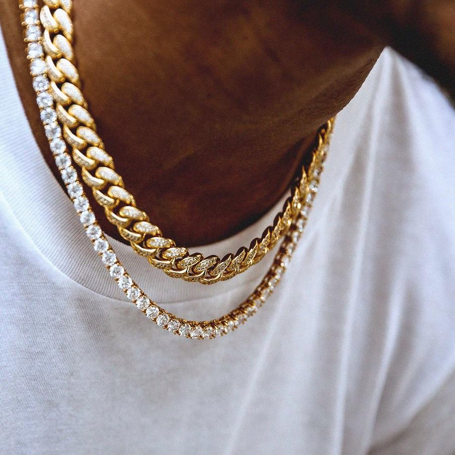 5mm Tennis Chain 10mm Cuban Choker Bundle The Gld Shop