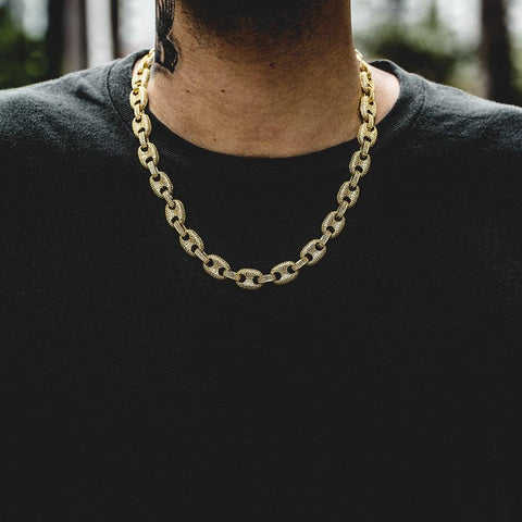 Cuban Link Chain Ankh Gold Chains For Men Plug