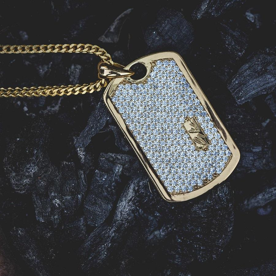 GLD Iced Dog Tag Pendant - The GLD Shop