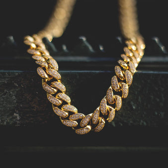 Diamond Cuban Link Necklace (10mm) in Yellow Gold – The GLD Shop 52565906f