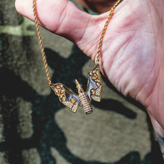 Bullet Butterfly w/ 2mm Rope Chain