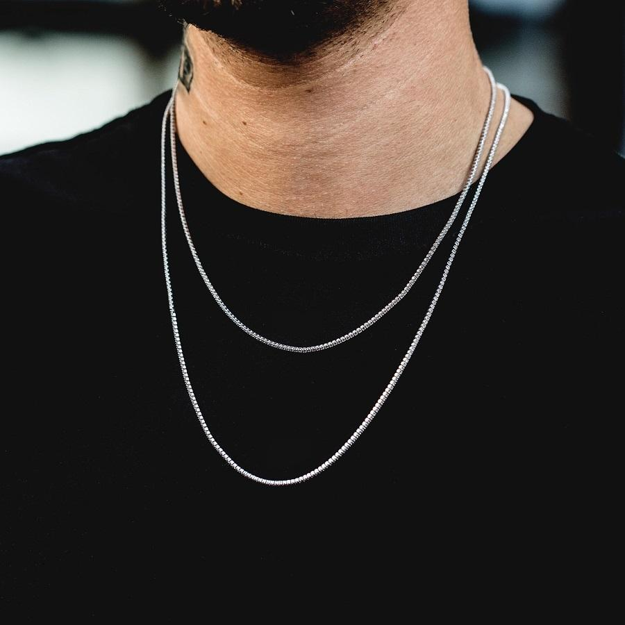 Micro Tennis Necklace in White Gold - The GLD Shop