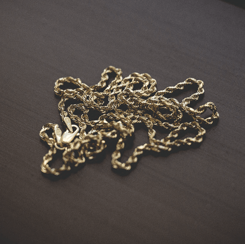 Solid Gold Rope Chain (2mm)
