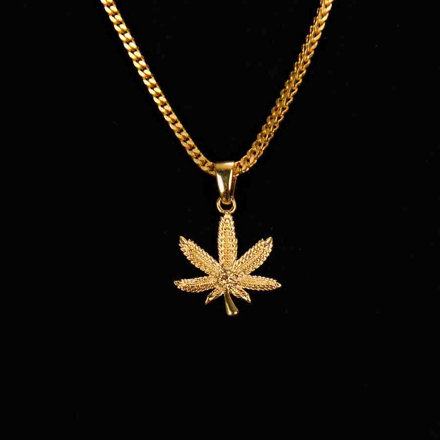 Weed leaf pendant the gld shop weed leaf pendant aloadofball Image collections