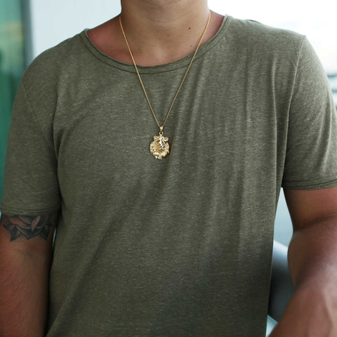 Gold Lion Pendant - The GLD Shop