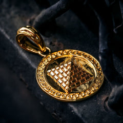 Pyramid Pendant in Gold - The GLD Shop