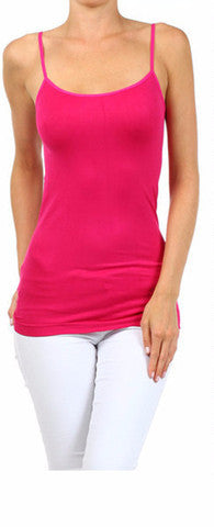 Fuchsia Basic Nylon Cami - Regular Size