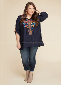 Contessa Embroidered Top - FINAL SALE