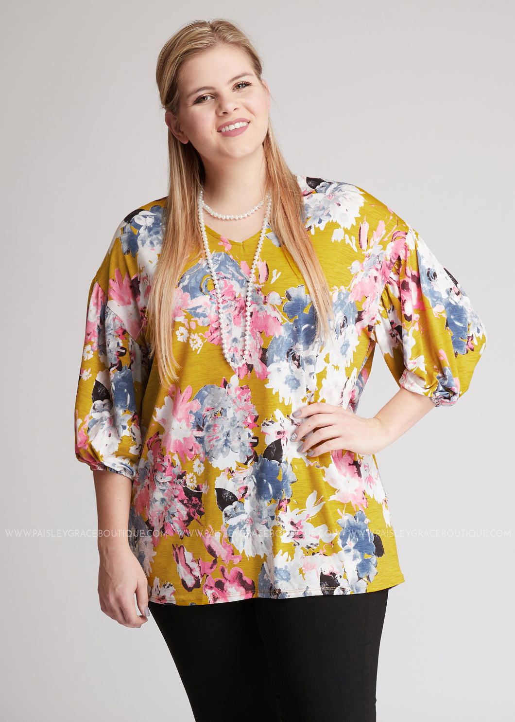 Floating Blossoms Top - FINAL SALE