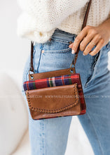 Load image into Gallery viewer, Evelyn Brown & Plaid Crossbody/Wallet