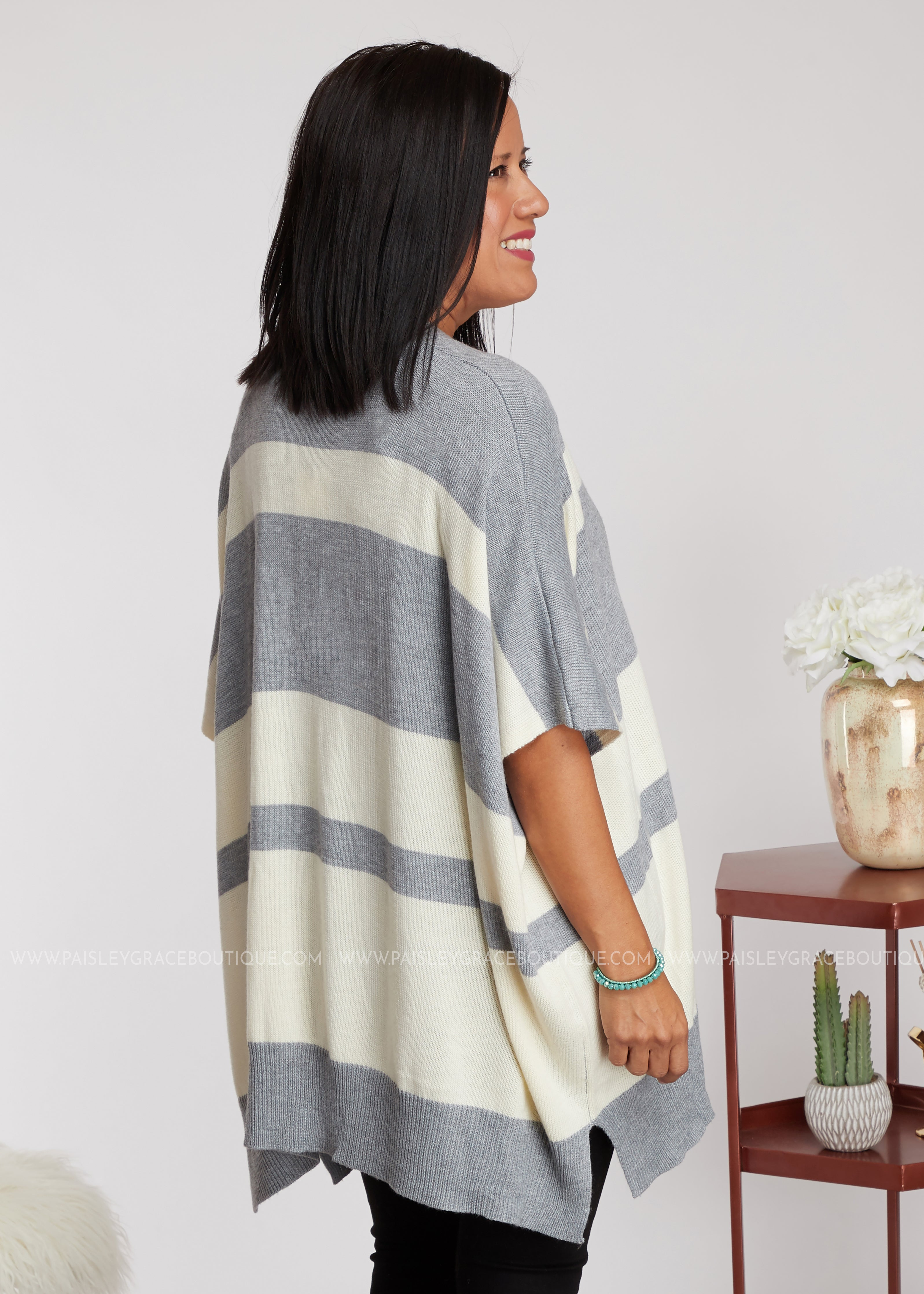 Lost In The Moment Kimono- GREY - FINAL SALE
