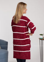 Load image into Gallery viewer, In The Long Run Cardigan - Wine - FINAL SALE
