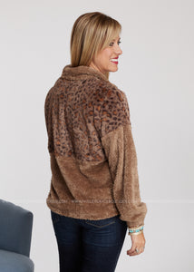 Warm Thoughts Pullover-MOCHA - FINAL SALE